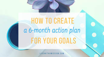 6 month action plan for goals