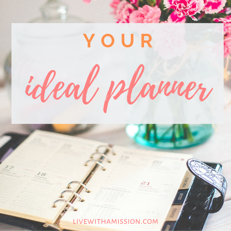 Your ideal planner